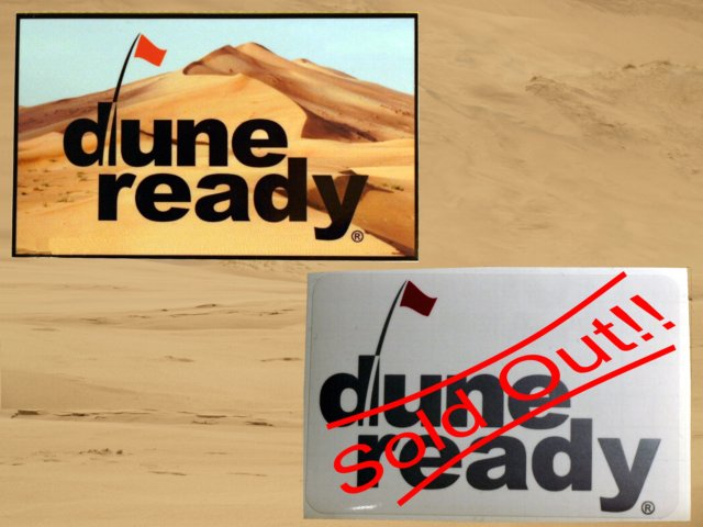 Sticker Dune Scape with Dune Ready Logo 5 inch by 3 inch