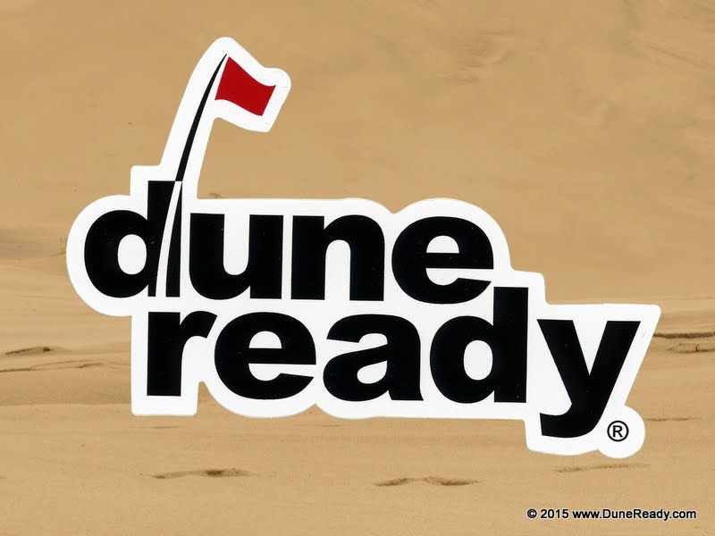 Sticker Die Cut Dune Ready Logo 4.5 inches by 3.125 inches