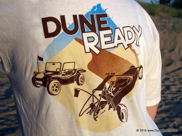 Short Sleeve T Shirt Left-Chest Front Dune Ready Logo with Sand Rail and Dune Buggy Rear